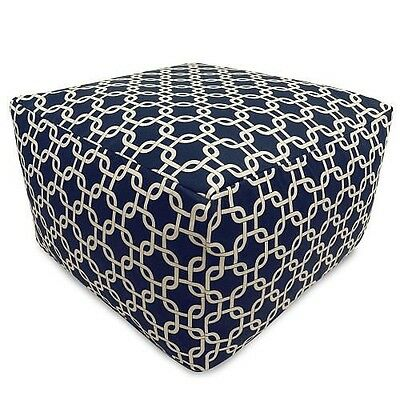Majestic Home Goods Blue Links Large Ottoman - Navy