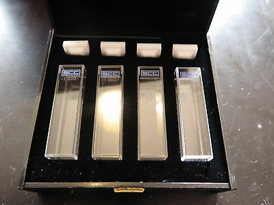 Lot of 4 Sigma Chemical Company 1.000 Cuvettes, 10mm PL, w/ Covers & Case
