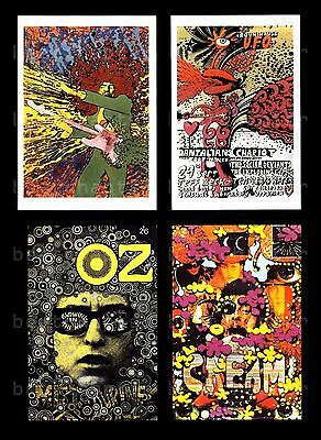 MARTIN SHARP Postcards Jimi Hendrix Bob Dylan Cream Roundhouse UFO Psychedelia