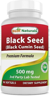 Best Naturals Black Seed Oil 500 mg 90 Softgels black cumin oil capsules