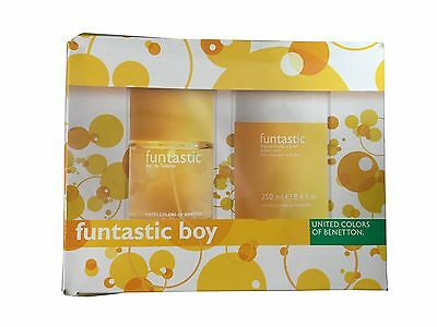 Benetton Funtastic Boy Set: EDT (3.3 oz) + Bubble Bath (8.4 oz)