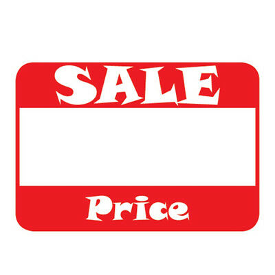 "500 Self-Adhesive Sale Price Rectangular Retail Labels 1"" Sticker Tags"