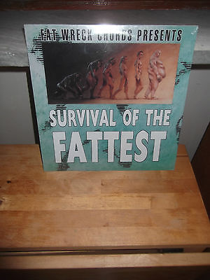 """VV.AA """"Survival Of The Fattest"""" LP FAT WRECK USA 1996 - SEALED"""