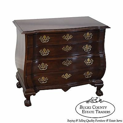 Drexel Heritage Chippendale Style Mahogany Bombe Claw Foot Chest