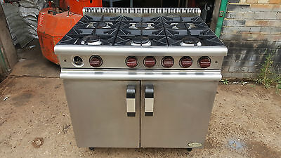 Commercial Moorwood Vulcan 6-Ring Cooker Oven Natural Gas Free Standing