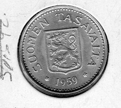 1959 Finland 100 M, Very nice coin includes free shipping in the US