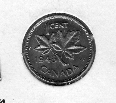 1945 Canada 1 Cent. Very nice looking coin. Includes Free shipping in US.
