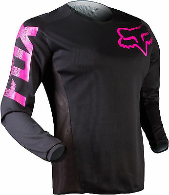 Fox Racing Youth Girls Blackout Riding Jersey Pink Motocross ATV MX MTB Offroad