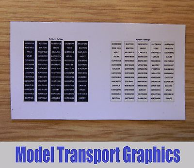 N Gauge Northern Heritage DMUs Destination Blinds for DMUs Class 101-126
