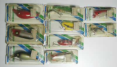 8 Vintage Wood Fishing Lure Shakespeare NOS - Vintage Shakespeare Lures