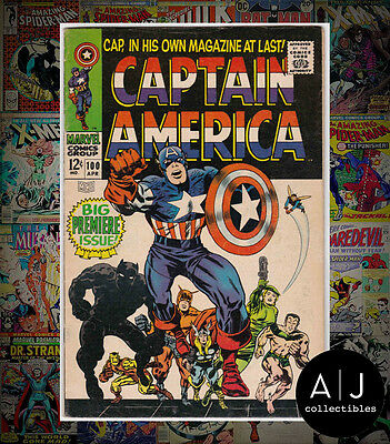 Captain America #100 (H Marvel W) FN! HIGH RES SCANS!