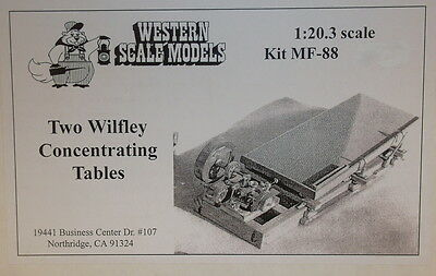 G Scale 1:20.3 Craftsman Wsm 2 Wilfley Concentrating Table Kit # Mf-88-Unstarted