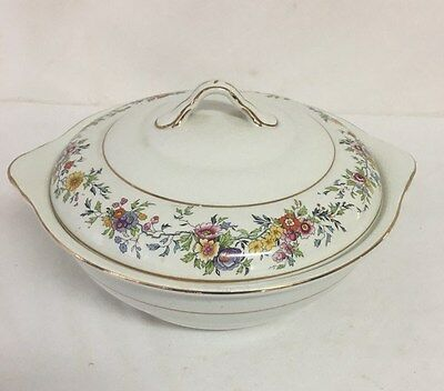 John Maddock and Sons Vitreous Soup Terrine 1945 Floral