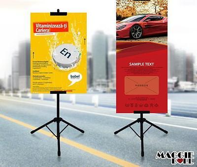 Display Frame poster Banner board holder high adjustable Tripod Stand