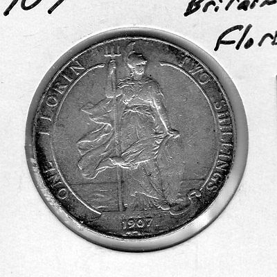 1907 Great Britain Florin. Very nice looking coin. Includes Free shipping in US.