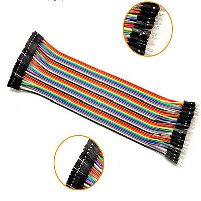 40Pcs Dupont Male To Female Jumper Wire Cable Line 1P-1P For Arduino Breadboard