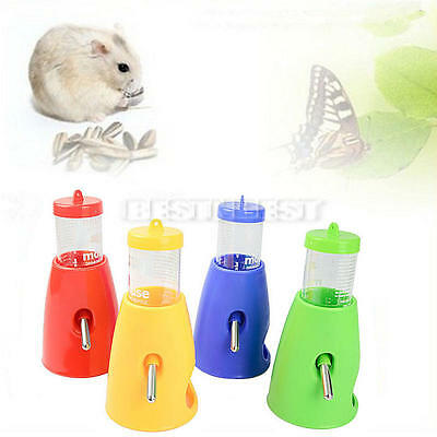 2 in 1 Plastic Pet Cage Hamster Water Drinkining Bottle Dispenser Accessories