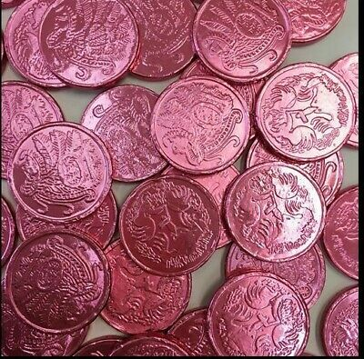 Pink Lollies Pink Foiled Milk Chocolate Coins 750G Approx 100Peices