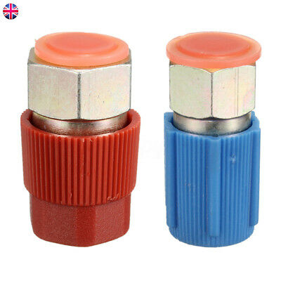 2Pcs Car Auto R12 to R134a 3/16'' Recharge Adapter A/C Quick Disconnect 1/4'' UK