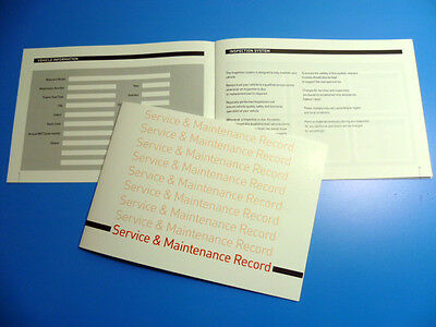 SMART Service Book  New Unstamped History Maintenance Record - Free Postage
