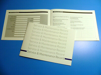 Peugeot Service Book  New Unstamped History Maintenance Record - Free Postage