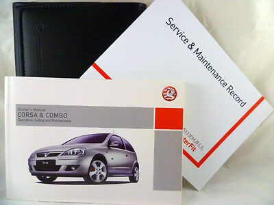 VAUXHALL  CORSA C FACELIFT SERVICE BOOK HANDBOOK & WALLET PACK 2005 To 2006
