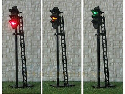 New 1 x Triple Head R/Y/G LED Signal Yard Lamp Light 12-16V