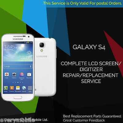 SAMSUNG GALAXY S4 DIGITIZER + LCD SCREEN + FRAME REPAIR REPLACEMENT fast SERVICE