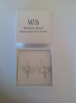 Dragonfly Pewter Earrings by William Sturt