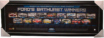 Ford Bathurst 50th Anniversary Winners Limited Edition Official Print Framed