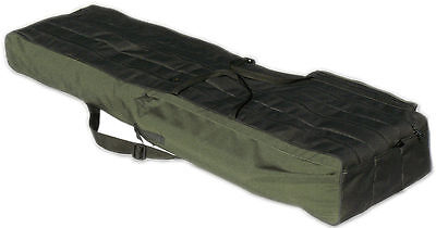 2 POCKETS 100cm FISHING HOLDALL BAG LUGGAGE for made up rods & reels GREEN BLACK