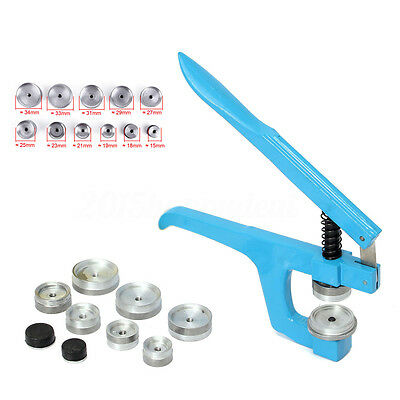 12Pcs Watch Back Case Closer/Press Watchmaker Crystal Glass Fitting Repair Tool