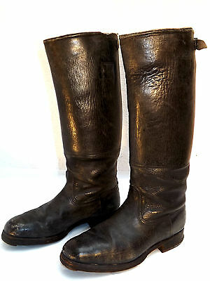 Authentic WW2 German Officers' Boots-Size 7 1/2 UK-41EU