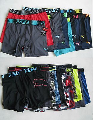4X Men's Puma Underwear Sports Trunks Polyester /  Spandex
