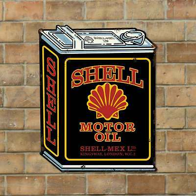 Shell Motor Oil - Vintage Metal Advertising Sign Garage Wall Plaque