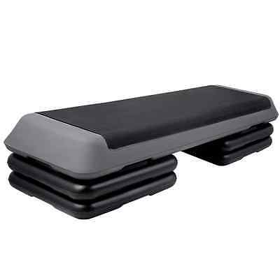 Adjustable Gym Fitness Exercise Aerobic Step Bench, Home Cardio Workout Stepper