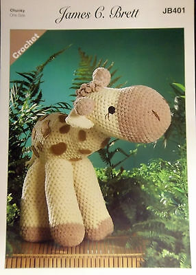 James Brett Crochet Chunky Toy pattern Sunshine the Giraffe  401