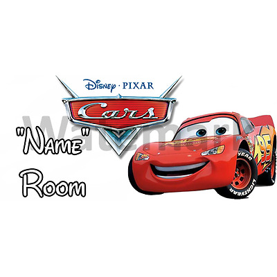 Disney Cars Personalised Bedroom Door Sign / Plaque - Any Text/Name (1)