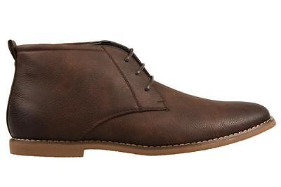 UNcut Moray Chocolate Shoes Lace Up Boot Casual Dress Formal Work Men's