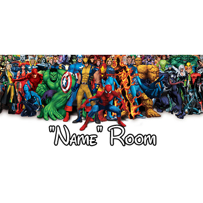 Marvel Personalised Bedroom Door Sign  - Any Text/Name (1)