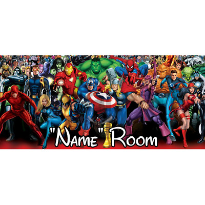 Marvel Personalised Bedroom Door Sign  - Any Text/Name (2)