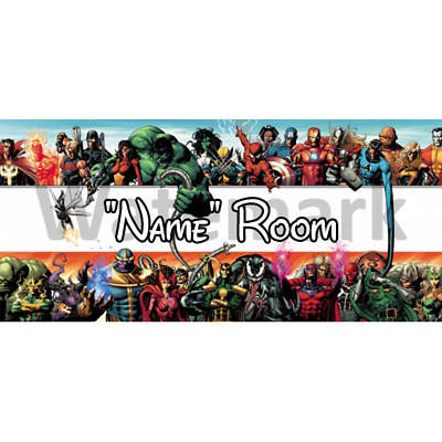 Marvel Personalised Bedroom Door Sign / Plaque - Any Text/Name (4)