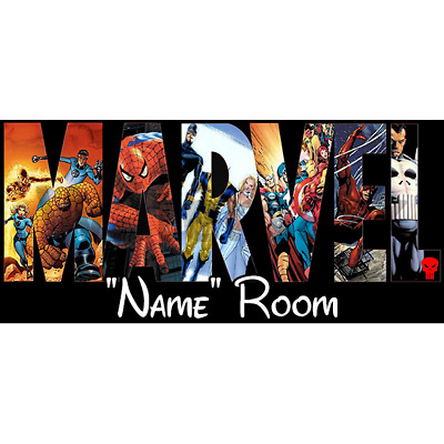 Marvel Personalised Bedroom Door Sign / Plaque - Any Text/Name (5)