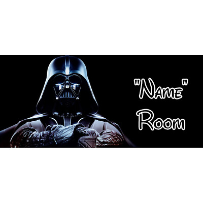 Star Wars Personalised Bedroom Door Sign / Plaque - Any Text/Name (3)