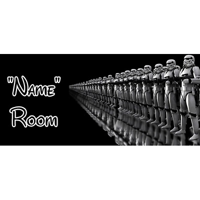 Star Wars Personalised Bedroom Door Sign / Plaque – Any Text/Name (8)