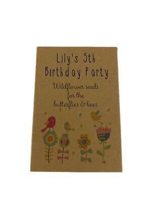 10 x Birthday Seed Favours Gifts Childrens Parties Personalised Party Bag Filler