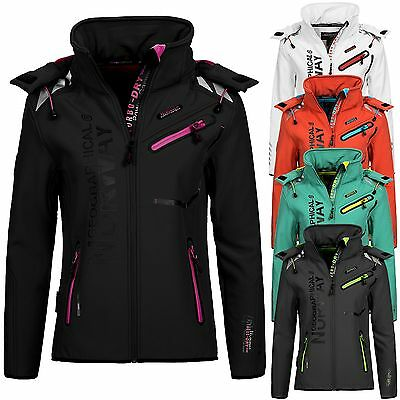Geographical Norway Damen Softshelljacke Romantic Damenjacke Softshell Zip Jacke