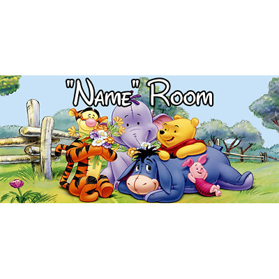 Winnie The Pooh Personalised Bedroom Door Sign  - Any Text/Name (2)