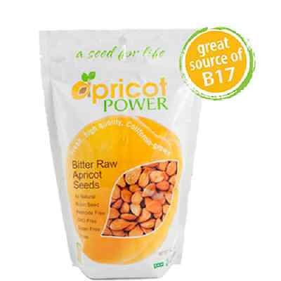 Apricot Power Bitter Raw Apricot Kernels Seeds - 16 oz FREE SHIPPING