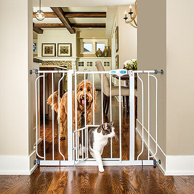 Pet Safety Gate CARLSON EXTRA WIDE Extending Pressure Fit Room Divider 74-111cm